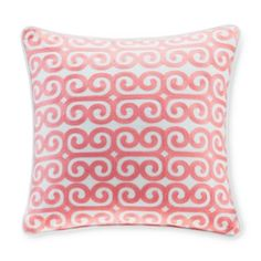 "Echo Madira Embroidered Square Decorative Pillow, 16"" x 16"" 