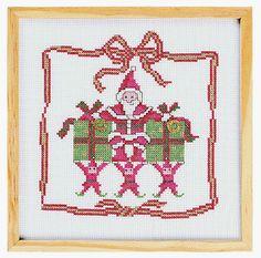 Diagramas de punto de cruz navideño