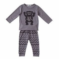 Little Monster Outfit( 2pc-set), 35% discount @ PatPat Mom Baby Shopping App