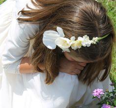 Coronas y diademas de flores para comuniones   Coronitasssh
