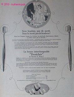 Publicite Dentclair Brosse A Dents Dentiste Docteur P Nuyts DE 1924 French AD | eBay