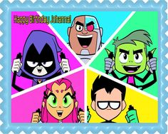 Teen Titans Go 4 Edible Birthday Cake Topper OR Cupcake Topper, Decor