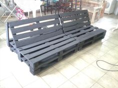 wooden pallet painted sofa frame