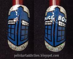 TARDIS nail art tutorial!