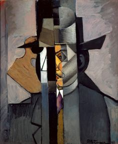 Portrait of Albert Gleizes, 1912 - Jean Metzinger Pablo Picasso, Picasso And Braque, Georges Braque, Cubism Art, Rene Magritte, Fauvism, Art Database, European Paintings, Oeuvre D'art