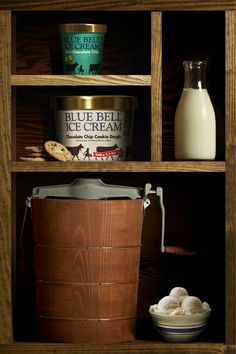"""Blue Bell Ice Cream, a Texas original. I get """"cranky"""" without my Blue Bell Ice Cream. Homemade Vanilla, Homemade Chocolate, Blue Bell Creameries, Ice Cream Factory, Ice Cream Brands, Best Ice Cream, Ice Cream Maker, Chocolate Chip Cookie Dough, Cookies And Cream"""