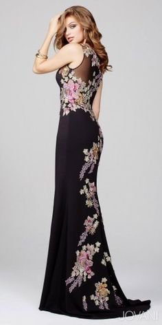Jovani PROM Embroidered Floral Prom Dress #prom #prom2016