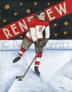 Renfrew Creamery Kings Ice Hockey Original Art by Paine Proffitt