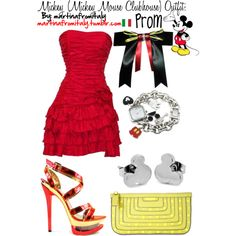 Mickey (Mickey Mouse Clubhouse) Prom Outfit, created by martinafromitaly on Polyvore