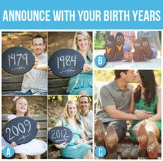 50 Creative Pregnancy Announcements: Birth Years