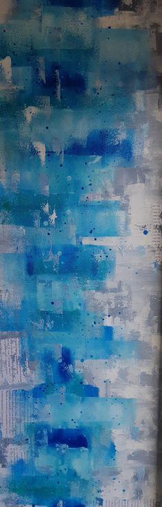 In My Studio... Painting // Les Fleurs du mal - Peinture et collage réalisée au rouleau et au couteau.