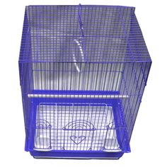 Iconic Pet - Flat Top Bird Cage - Medium - Blue - Size : 14x11x19The economical bird cage is featured with mesh caging and dome-shaped roofing. It also includes a removable bottom pan for easy cleaning.This cage is equipped with two drinking cups, one perch, and a ring. This Dome Top Bird Cage provides comfortable living and playing space and ideal for parakeets, cockatiels and other medium birds.The wall, roof and bottom can be blue/green/red color. Easy to assemble. At Home > Pet Care…