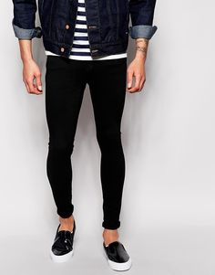 Dr+Denim+Jeans+Dixy+Low+Spray+On+Extreme+Super+Skinny+Black