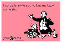 Most legit baby shower invite!