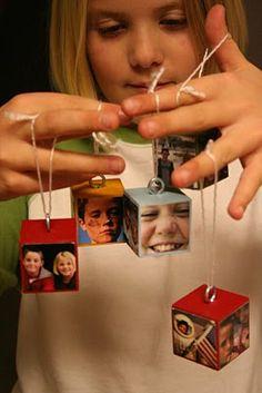 22 Trendy Diy Christmas Presents For Grandparents Picture Ornaments Homemade Ornaments, Christmas Ornaments To Make, Noel Christmas, Christmas Crafts For Kids, Christmas Projects, Holiday Crafts, Holiday Fun, Christmas Decorations, Ornaments Ideas