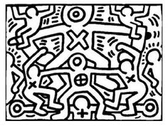 Keith Haring was an American artist whose pop art and graffiti-like work grew out of the New York City street culture of the Discover these Keith Haring coloring pages and try to recreate his art ! Pattern Coloring Pages, Coloring Pages To Print, Colouring Pages, Adult Coloring Pages, Coloring Pages For Kids, Kids Coloring, Pop Art, Keith Haring Art, School Coloring Pages