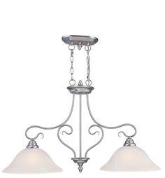 Livex Lighting 6132 Coronado 2 Light 1 Tier Linear Chandelier Brushed Nickel Indoor Lighting Chandeliers
