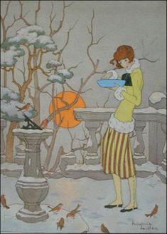 Feeding the Winter Birds by Marjorie Miller