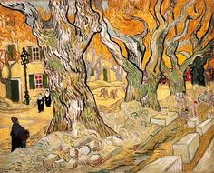Vincent Van Gogh - Post Impressionism - Saint REMY - Grands platanes
