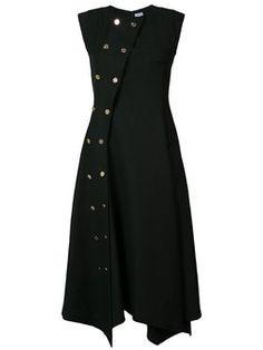 платье с двубортный дизайном