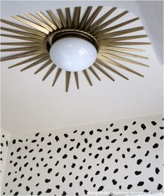 gold sunburst ceiling medallion simple details