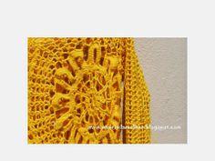 Papéis da Mulher: Blusa de  Crochê Ana  Maria Braga- Na cor amarela