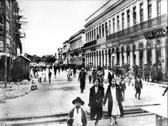 Curitiba- Rua XV, vista da rua Dr. Murici em direção à praça Osório- 1927