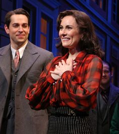 As Zachary Levi looks on, She Loves Me leading lady Laura Benanti takes her curtain call.