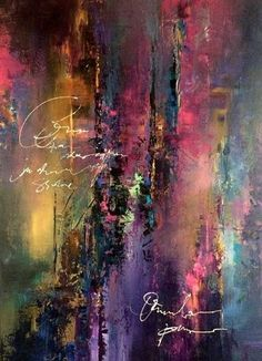 Original abstract paintings and a collection of limited edition luxurious silk scarves by Jaanika Talts. Shipping available worldwide. A Great idea. Just replace the names with quotes and viola! Pintura Graffiti, Abstract Photography, Painting Techniques, Love Art, Abstract Expressionism, Painting Inspiration, Modern Art, Contemporary Artists, Canvas Art