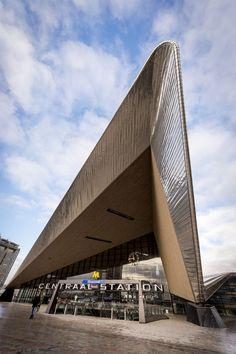 Centraal Station, Rotterdam, Zuid-Holland.