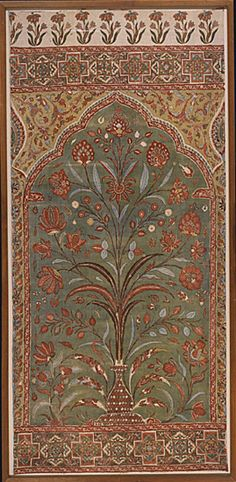 Section of a Tent Hanging or Curtain, late 17th century, Golconda, India