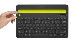 logitech-k480knob.jpg. Bluetooth keyboard would work with our phones and iPads.
