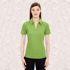 Ash City-North End Sport Red-Ladies Recycled Polyester Performance pique Polo-78632