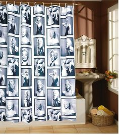 71 inch Marilyn Monroe Waterproof Shower Curtain with Ring hook cm? for Like the 71 inch Marilyn Monroe Waterproof Shower Curtain with Ring hook cm? Bathroom Curtains, Fabric Shower Curtains, Romantic Curtains, Printed Shower Curtain, Curtains, Patterned Shower Curtain, Marilyn Monroe Bathroom, Bathroom Shower, Waterproof Curtain