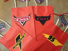 Personalized Disney Cars Goody Gift Bags by kandu001 on Etsy, $20.00