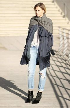 fashion bloggers wear blanket scarves/wraps