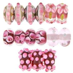 Goody Beads Limited Edition Pink Passion Lampwork Collection