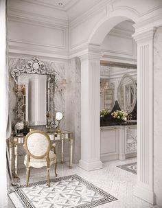 26 Ideas Home Design Grey Vanities Luxury Home Decor, Luxury Homes, Classic Interior, Bathroom Interior Design, Interior Decorating, Luxurious Bedrooms, Beautiful Bathrooms, House Design, Architecture