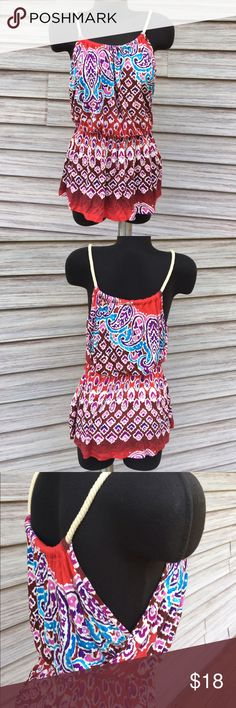 Rope strap top Super cute, adjustable. Beautiful colors! 100% Rayon Charlotte Russe Tops