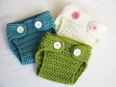 CROCHET PATTERN Diaper Cover with BONUS Pom-Pom bunny/bear tail (sizes included: newborn-24 months) Permission to sell finished items. $4.99, via Etsy.