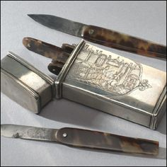 These steel blades were used for bloodletting in the 1800s, in a similar manner to leeches, until the practice fell into disfavour.    Many doctors believed bleeding a patient could cure various ailments and infections, including pneumonia.