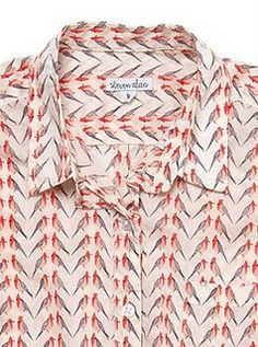 steven alan shirt made from Liberty of London parrot fabric. It is everywhere!