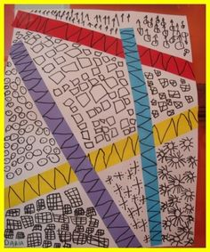 Travail autour des lignes# et des motifs de graphisme# en maternelle. Tout est très bien expliqué sur le site. blog très riche.