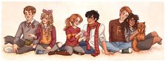 The Silver and the Golden Trio-Harry Potter Ginny by SusannesArt