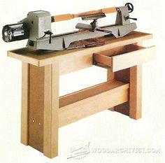 Lathe Stand Plans - Lathe Tips, Jigs and Fixtures   WoodArchivist.com
