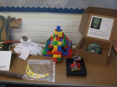 Aztec artefacts made by Year 3/4 pupils at St Nicholas School, Wantage, created after a visit to the Pitt Rivers to do the Aztec trail.