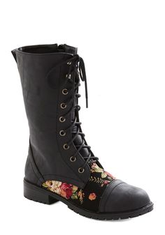 Blooming Saddles Boot in Black, #ModCloth