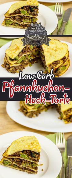 Low-Carb Pfannkuchen-Hack-Torte mit Brokkoli. Torten müssen nicht immer süß sein Ein absolutes Highlight in der Reihe der herzhaften Torten ist unsere Pfannkuchen-Hack-Torte, natürlich Low-Carb und so genial würzig lecker