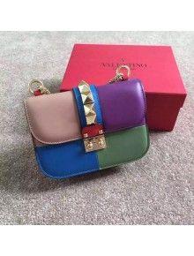 Valentino Multicolor Small Chain Shoulder Bag Pink/Purple/Blue/Green