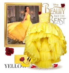 """""""Beauty And The Beast"""" by pink1princess ❤ liked on Polyvore featuring Disney, Emma Watson, Mikael D, Loewe and INC International Concepts"""